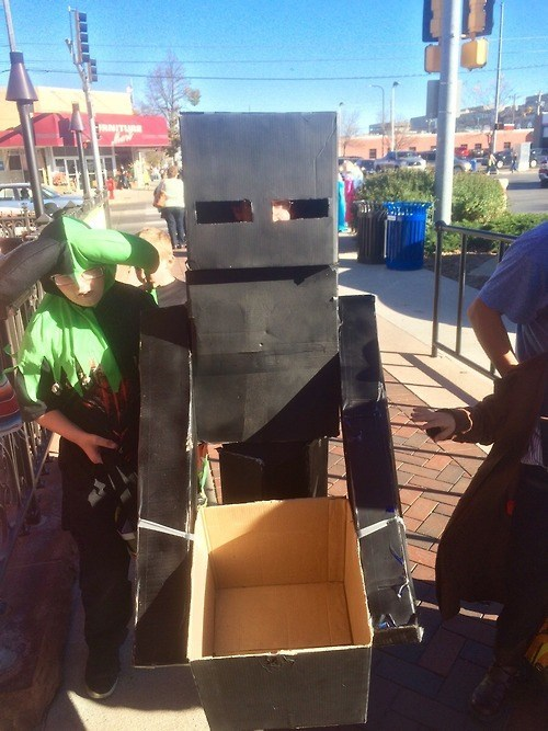 costume,enderman,halloween,minecraft,funny
