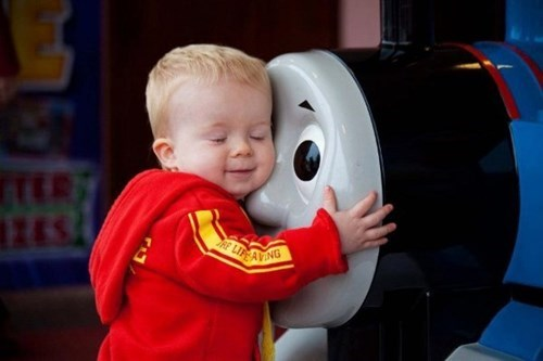 kids,thomas the tank engine,parenting,hug