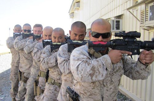 guns soldiers mustaches
