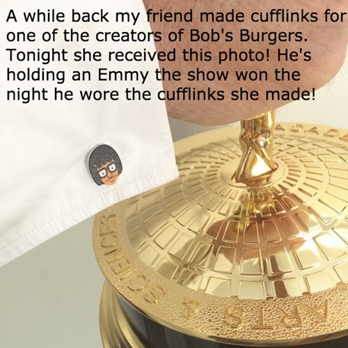 poorly dressed tina belcher emmys bobs-burgers cufflinks g rated - 8371164672