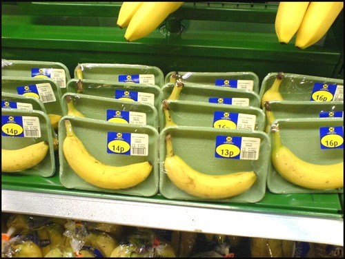 monday thru friday,packaging,banana,grocery store