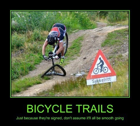 bicycle,trail,funny