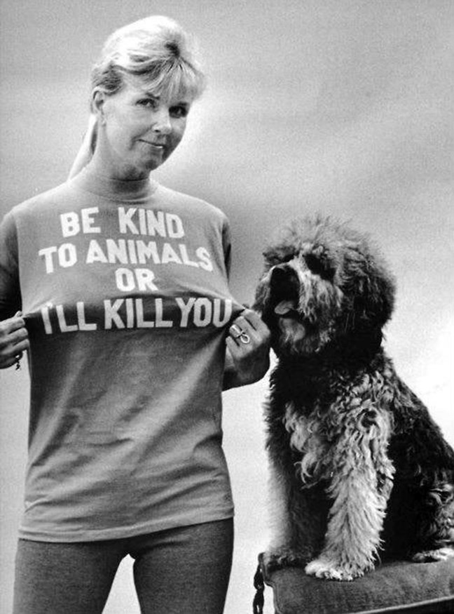 Doris Day with a dog