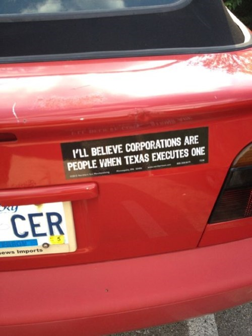 corporations bumper stickers texas - 8371466240