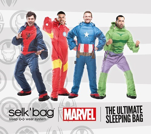 design nerdgasm superheroes sleeping bag g rated win - 8371471104