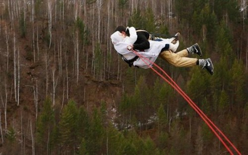 bungie jumping,relationships,funny,couple