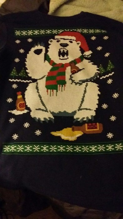 drunk funny ugly sweater - 8371695360