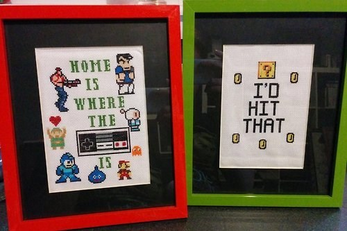 cross stitch,gamers,funny