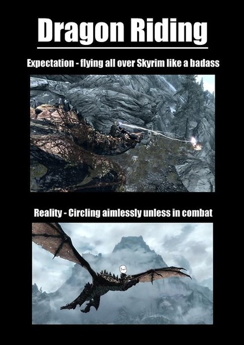 awesome dragon funny riding Skyrim