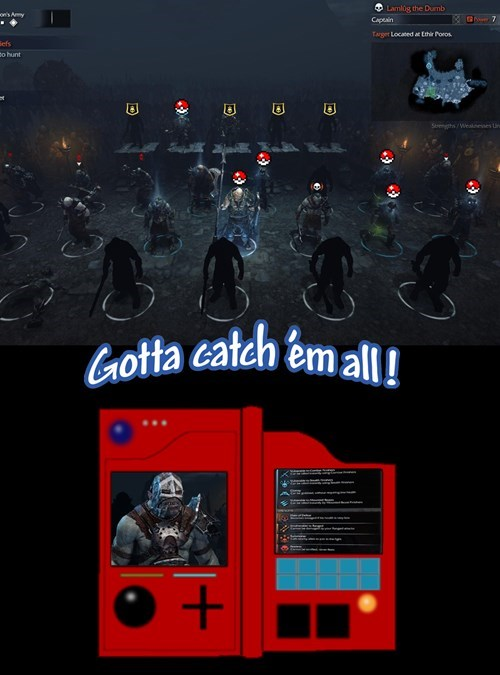 pokedex Pokémon shadow of mordor video games - 8371727104