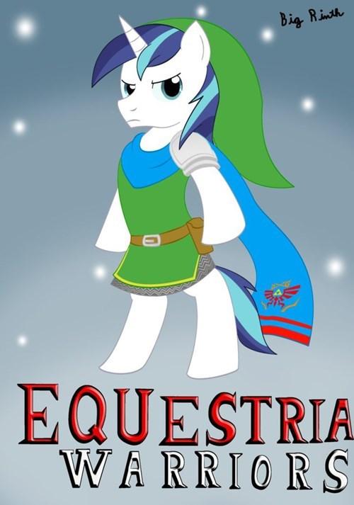 Equestria Warriors: Shining Armor as Link.