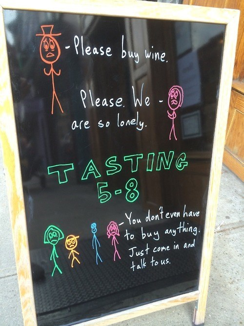 sign depressing wine funny - 8372102912
