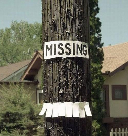 missing missing sign - 8372163328
