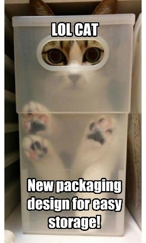 LOL CAT New packaging design for easy storage!
