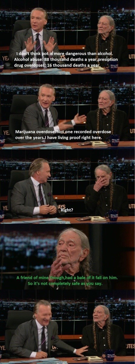 marijuana,willie nelson,bill maher,true story,weed