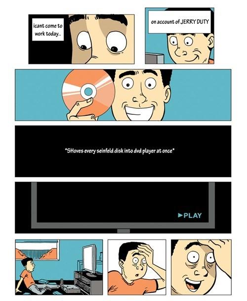 jerry seinfeld puns jury duty web comics - 8372300800