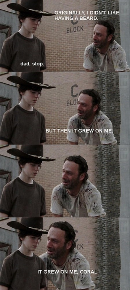 Walking Dad Jokes Rick Grimes beard - 8372301312