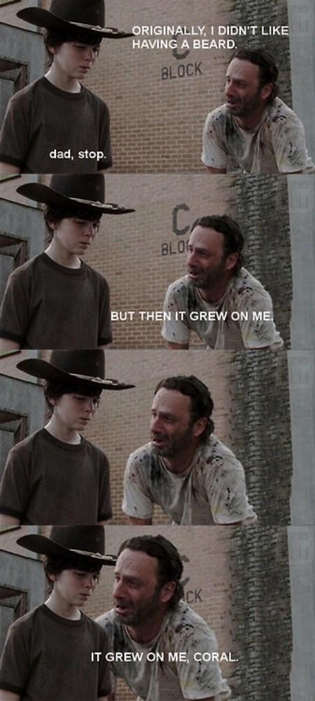 Walking Dad Jokes Rick Grimes beard - 8372301312