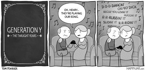 Music sad but true aging web comics