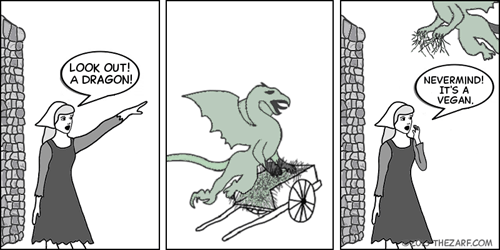 dragon,vegans,web comics