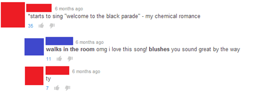 youtube,youtube comments,my chemical romance