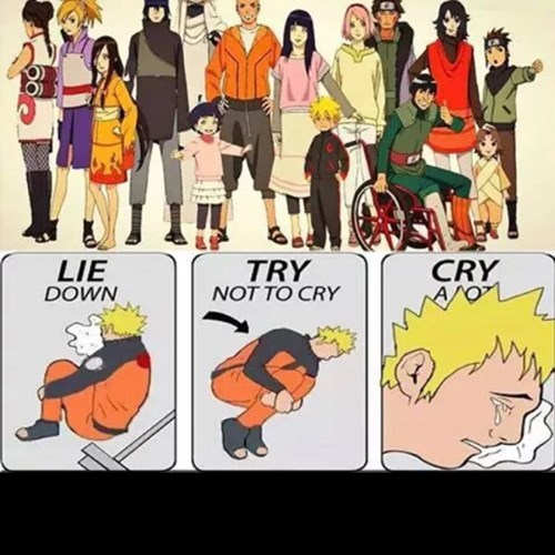 try not to cry,naruto,manga