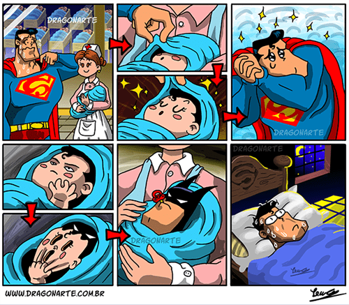 baby,batman,superman,nightmares
