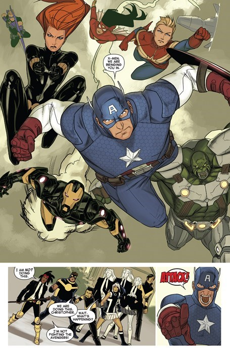 vs xmen Straight off the Page avengers - 8373323776