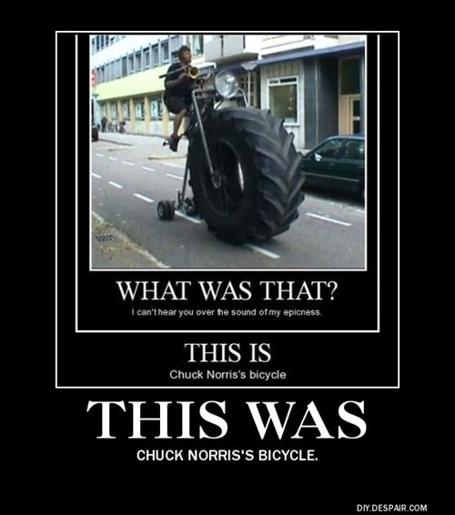 bicycle wtf chuck norris funny - 8373651456