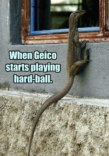 When Geico starts playing hard-ball.