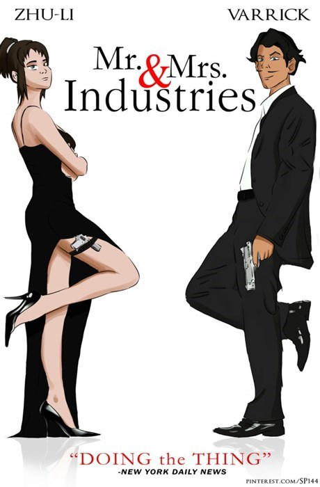 zhu li crossover varrick Fan Art mr and mrs smith - 8373982464