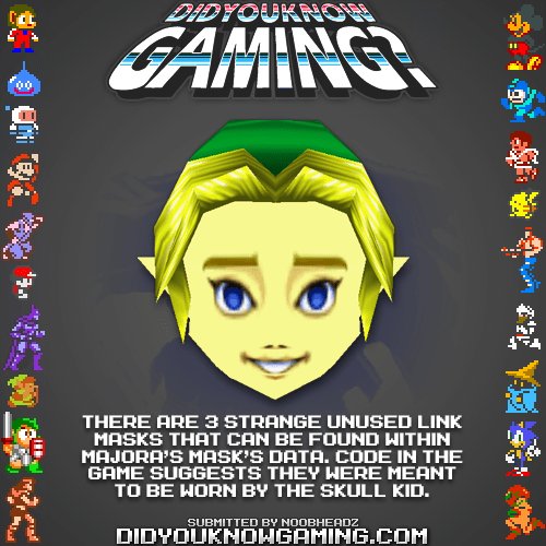 did you know gaming,majoras mask,zelda