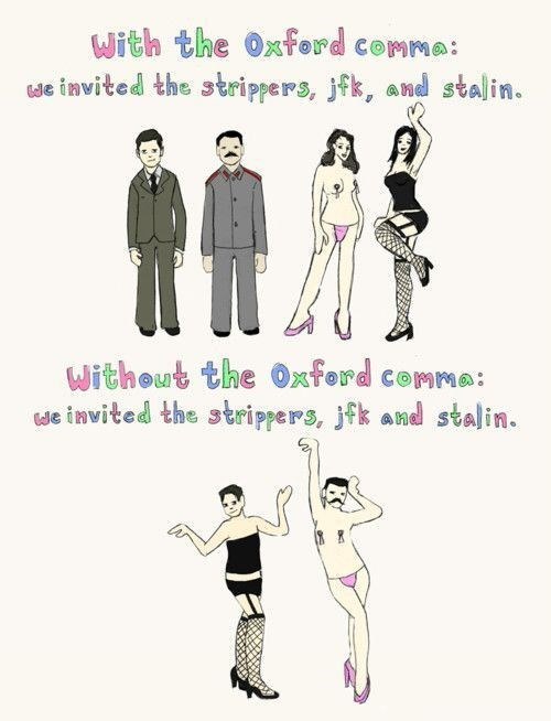 grammar english oxford comma funny - 8374121216