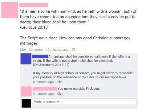 gay marriage facebook virginity funny - 8374146048