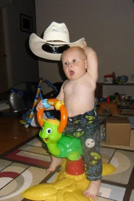 baby parenting cowboy hat cowboy - 8374501632