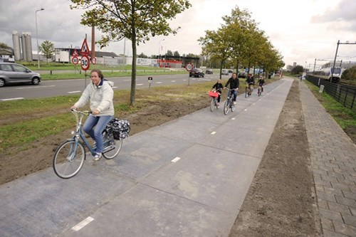 bicycles,bike path,Netherlands,solar power