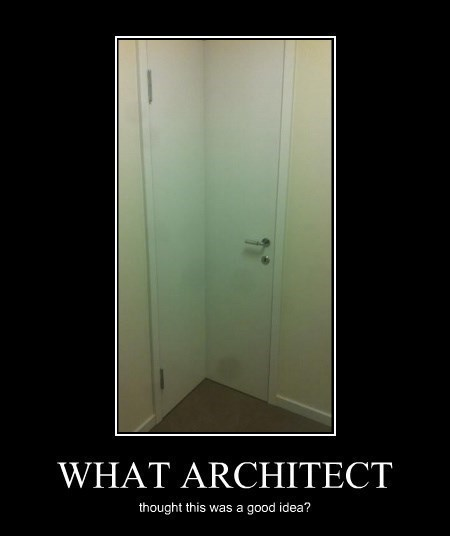 door wtf architect funny corner