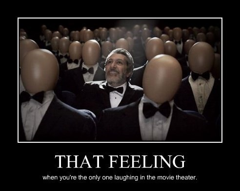 feeling,movie theater,laughing,funny