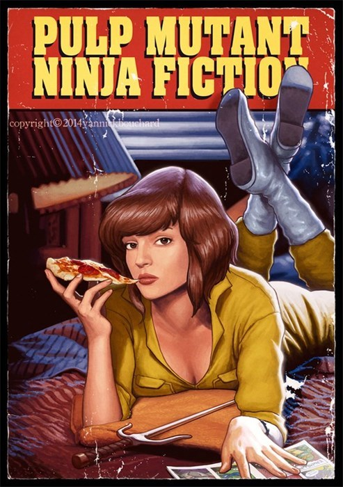 TMNT,pulp fiction,april oneil