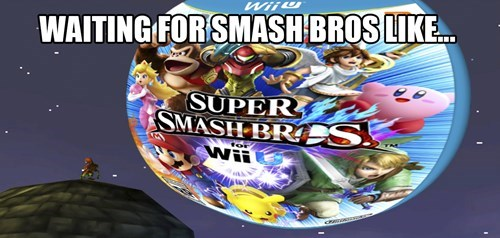 super smash bros wii U waiting - 8374643456