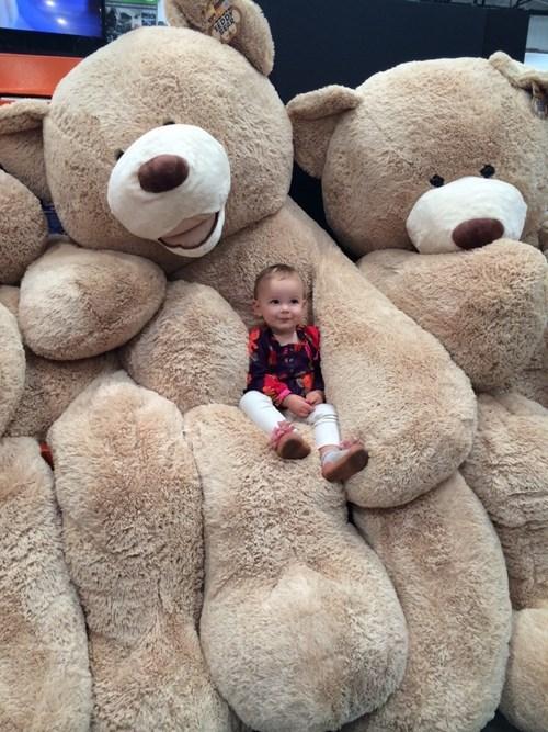teddy bear kids cute parenting huge