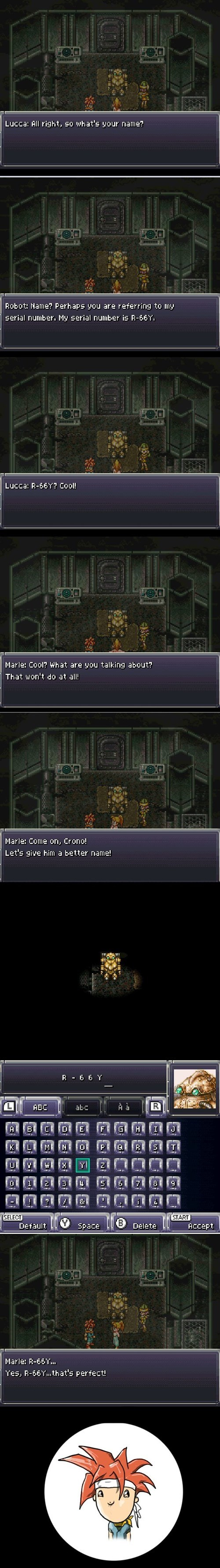 Chrono Trigger cheeky video games naming - 8374656000