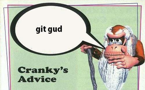 cranky kong scrubs git gud - 8374675968