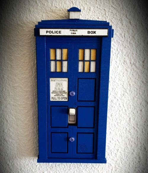 light switch design tardis doctor who - 8374858240