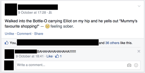 alcohol parenting mom failbook