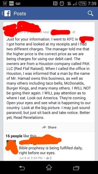 bible conspiracy food fast food failbook - 8374874112