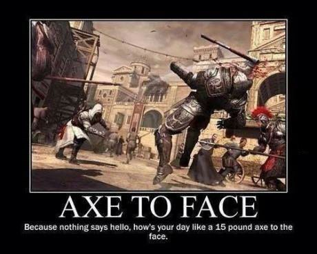 face,soldiers,axe,funny
