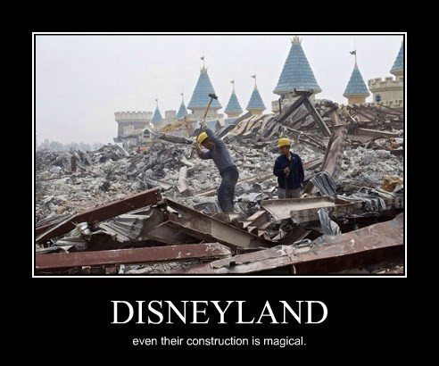 castle construction funny disneyland