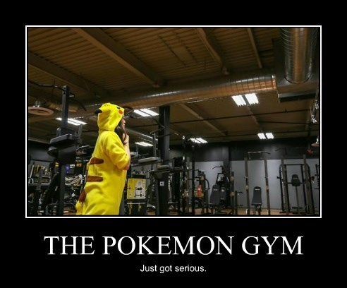 Pokémon gym pikachu funny