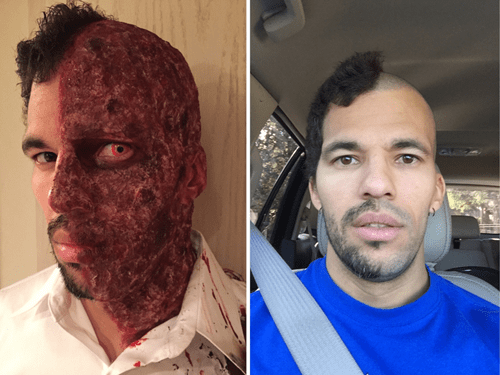 hair shave facial hair poorly dressed halloween aftermath - 8375285760